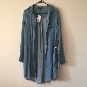 FOREVER 21 DENIM DRESS  S:M  BELT NOT INCLUDED NWT
